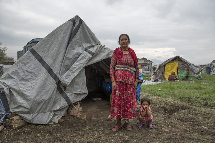 Nepal / Various Pourakhi projects, Temporary Housing camp at Chuchepati
