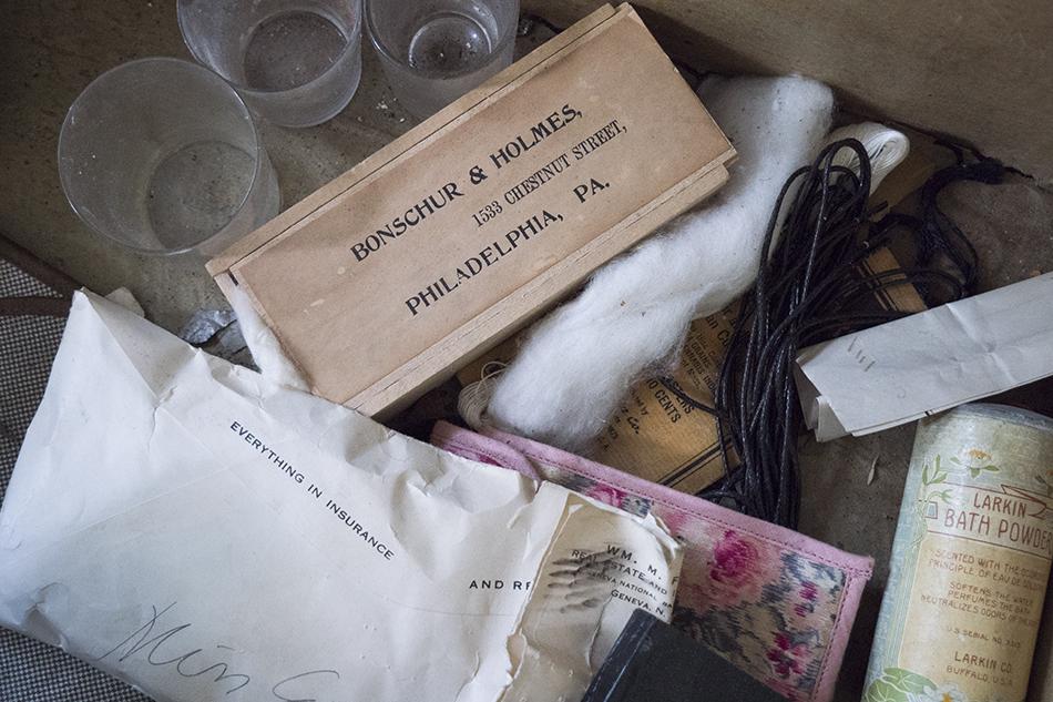 Trunk belonging to Anne Earley, nurse at Willard.