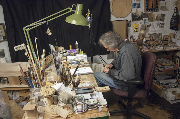 David Beck in his studio
